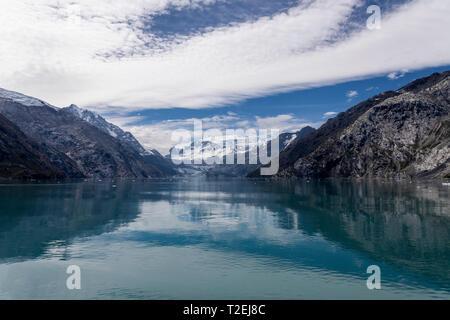 Johns Hopkins Glacier in Johns Hopkins Inlet, Glacier Bay National Park, Alaska - Stock Photo