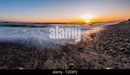 San Clemente Sunset at the Beach - Stock Photo