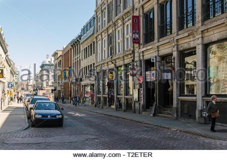 Saint Paul street, Montreal, Canada - Stock Photo