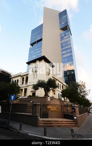 The Levin House on 46 Rothschild Blvd in Tel Aviv. - Stock Photo