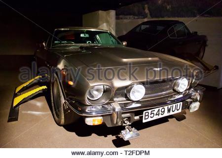 Bond in Motion. London Film Museum. The Living Daylights 1987 - Aston Martin V8 Vantage Volante 1985. London, England. - Stock Photo