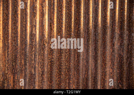 Close up texture and detail rusty on galvanize sheet background. - Stock Photo