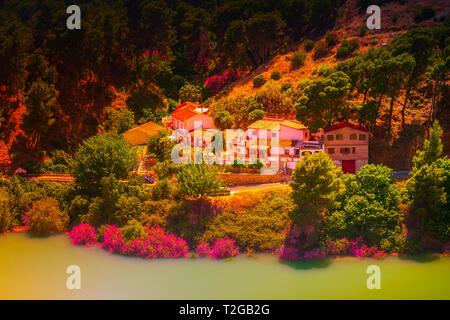 Caminito Del Rey, Spain. Beautiful andalucian landscape - Stock Photo