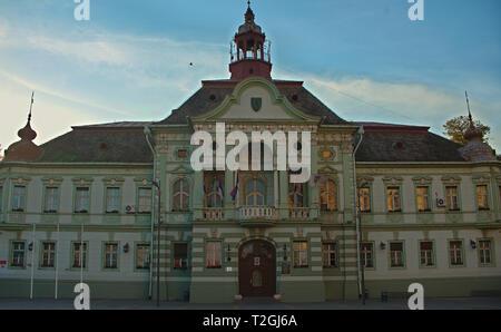 ZRENJANIN, SERBIA, OCTOBER 14th 2018 - City hall on main square - Stock Photo