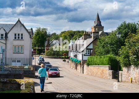 Dornoch village, Sutherland, Highland Region, Scotland UK - Stock Photo