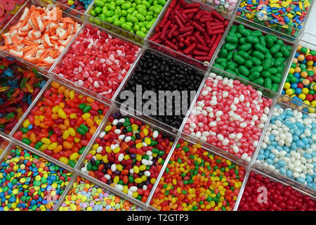 Assorted candy for sale in the Souk - Stock Photo