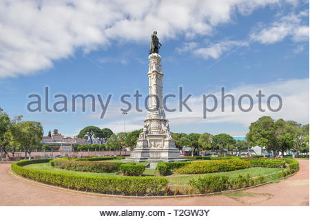 Belem, Lisbon, Portugal - June 23, 2018: Square and the monument to Afonso de Albuquerque. - Stock Photo