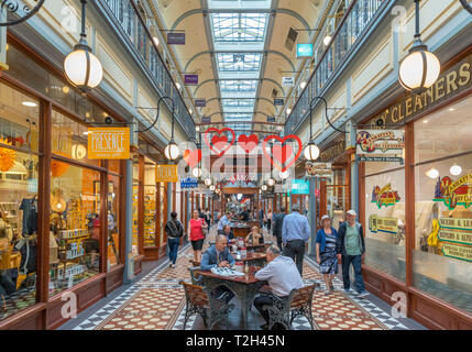 Adelaide, Australia. The Adelaide Arcade shopping centre in the Central Business District (CBD), Adelaide, South Australia, Australia - Stock Photo