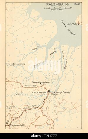 Kuantan 1942 Malaysia 1957 old vintage map plan chart Malaya