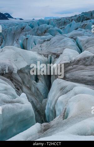 Huge glacier in Hornsund, Svalbard, Arctic, Norway - Stock Photo