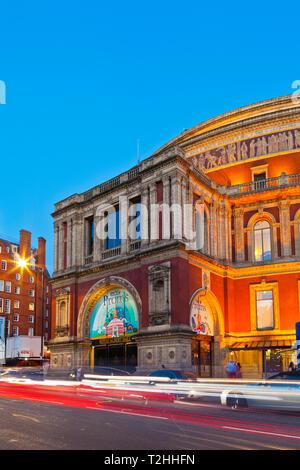 Royal Albert Hall at sunset in London, England, United Kingdom, Europe - Stock Photo