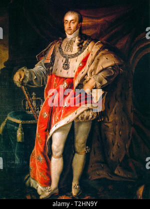 Portrait of Carlo Felice di Savoia (Turin, 6 April 1765 - Turin, 27 April 1831) was king of Sardinia and duke of Savoy from 1821 to death - Stock Photo