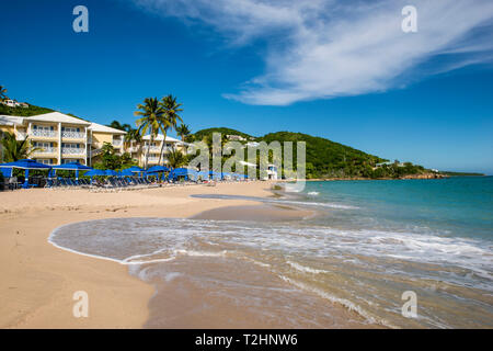 Marriott's Frenchman's Reef and Morning Star Beach Resort, Morningstar Beach, St. Thomas, US Virgin Islands, Caribbean - Stock Photo