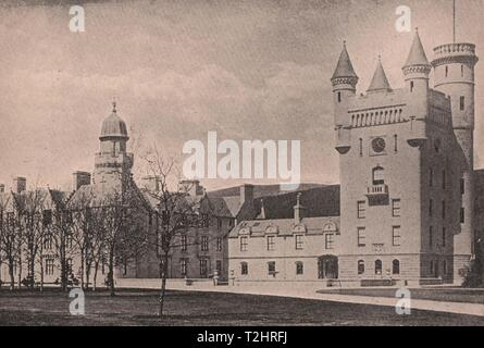 Balmoral Castle, Scottish of Queen Victoria, Forty-Four miles from Aberdeen - Stock Photo