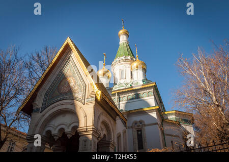 The Russian Church of St Nicholas the Miracle-Maker in Sofia, Bulgaria - Stock Photo