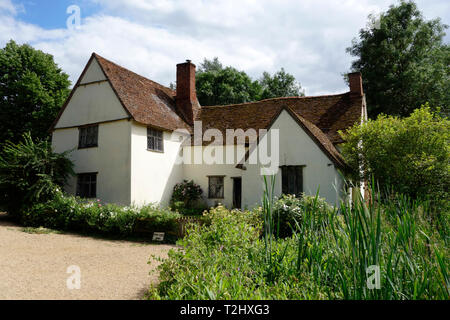 Willy Lott's Cottage, Flatford Mill - Stock Photo