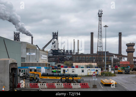 Steelworks,Scunthorpe,England (Taken from a public highway) - Stock Photo
