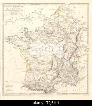 ANCIENT ROMAN FRANCE GAUL: Gallia Transalpina  Roman names Stock