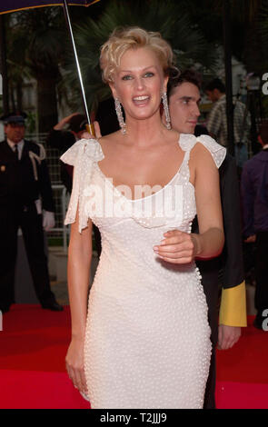 CANNES, FRANCE. May 10, 2000:  Supermodel Kylie Bax at the opening night gala screening of Vatel at the Cannes Film Festival. Picture: Paul Smith/Featureflash - Stock Photo