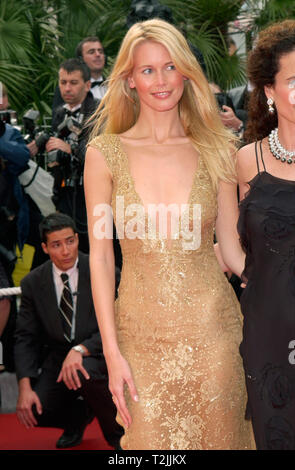 CANNES, FRANCE. May 10, 2000:  Supermodel Claudia Schiffer at the opening night gala screening of Vatel at the Cannes Film Festival. Picture: Paul Smith/Featureflash - Stock Photo