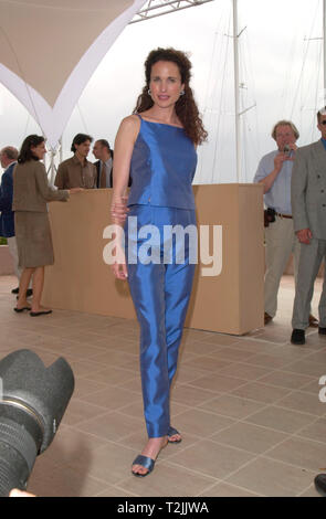 CANNES, FRANCE. May 11, 2000:  Actress Andie MacDowell at the Cannes Film Festival to promote L'Oreal. Picture: Paul Smith/Featureflash - Stock Photo