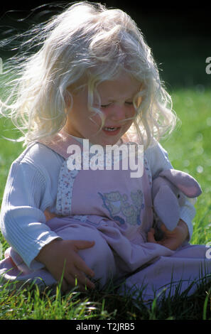 little girl having a tantrum - Stock Photo