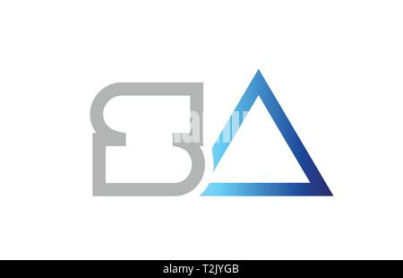 blue grey alphabet letter logo combination sa s a design suitable for a company or business - Stock Photo
