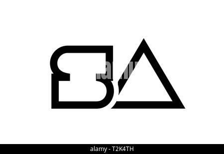 black and white alphabet letter logo combination sa s a design suitable for a company or business - Stock Photo