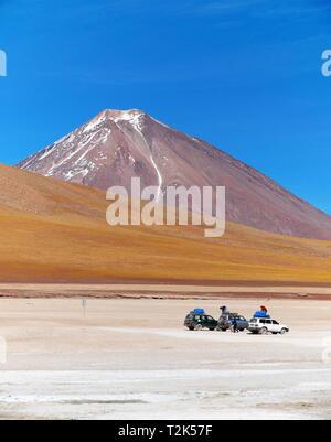 UYUNI, BO - CIRCA OCT 2018 - Licancabur volcano on the Andean altiplano of Bolivia, South America - Stock Photo