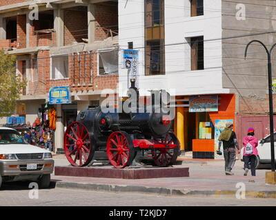 UYUNI, BO - CIRCA OCT 2018 - The city center of Uyuni, the door to the Salar. Bolivia. - Stock Photo