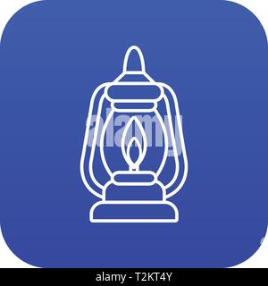 Mining lamp icon blue vector isolated on white background - Stock Photo