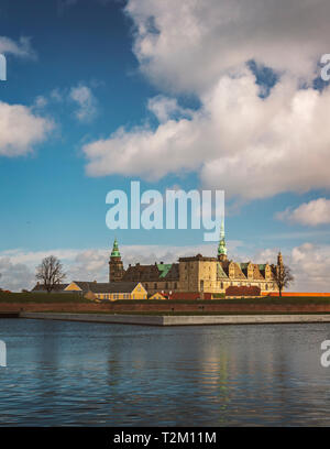 Kronborg castle in the city of Helsingor, Denmark. - Stock Photo