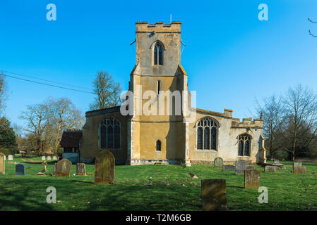 Chelsworth Church, view of the medieval All Saints Church in the village of Chelsworth, Babergh District, Suffolk, England, UK - Stock Photo