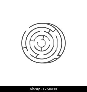Labyrinth Icon. Labyrinth Thin Line Vector Icon. Flat icon isolated on the white background. Editable EPS file. Vector illustration. - Stock Photo