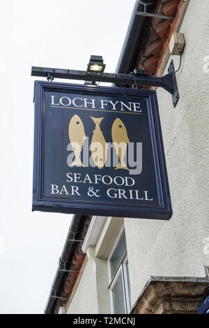 Loch Fyne Seafood Bar and Grill fish restaurant in the village of Knowle near Solihull, West Midlands - Stock Photo