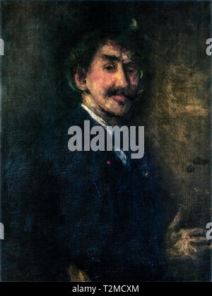 James Abbott McNeill Whistler (1834-1903), Gold and Brown: Self-Portrait, c. 1896 - Stock Photo