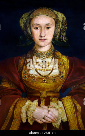 Anne of Cleves (1515–1557) Fourth wife of Henry VIII, King of England by  Hans Holbein the Younger, 1497 - 1543, German, Germany - Stock Photo