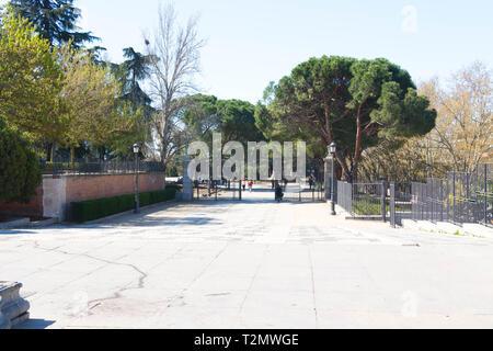 Royal garden near Royal Palace of Madrid - Stock Photo