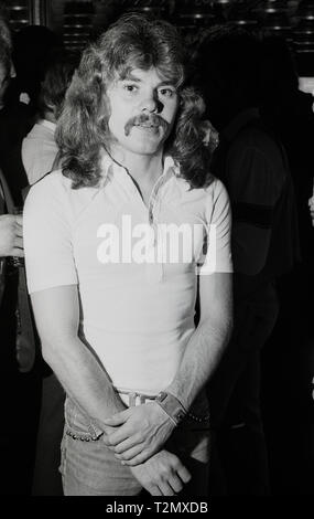 ALAN LANCASTER founder and musician in British hard rock band Status quo - Stock Photo