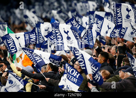 London, UK. 03rd Apr, 2019. during English Premier League between Tottenham Hotspur and Crystal Palace at Tottenham Hotspur Stadium, London, UK on 03 Apr 2019 Credit: Action Foto Sport/Alamy Live News - Stock Photo
