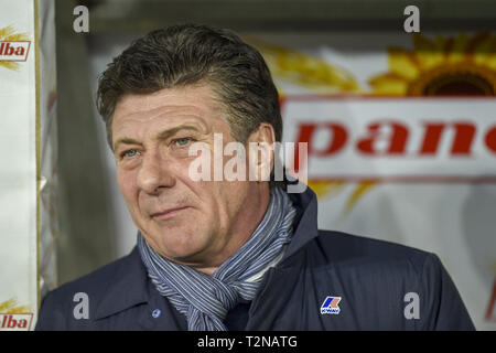 Turin, Italy. 03rd Apr, 2019. Walter Mazzarri head coach of Torino FC during the Serie A match at Stadio Grande Torino, Turin Credit: Antonio Polia/Alamy Live News - Stock Photo