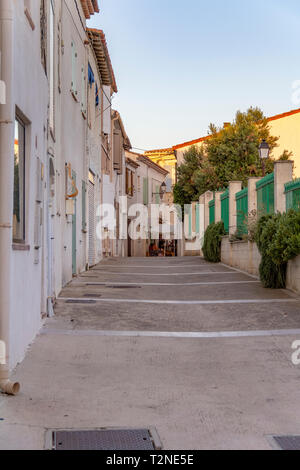 scenery at Saintes-Maries-de-la-Mer, the capital of the camargue in the south of France - Stock Photo