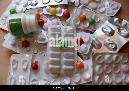 prescription drugs and medication, chemists, pharmacy - Stock Photo