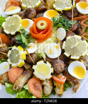 wll decorated party catering food,image - Stock Photo
