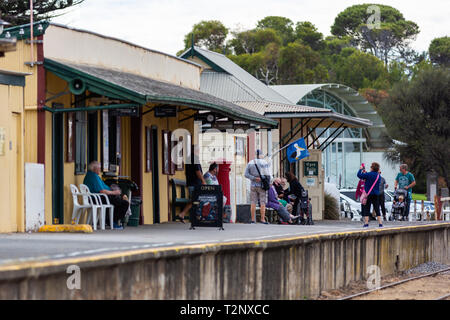 goolwa train station on the fleurieu peninsula goolwa south australia on 3rd April 2019 - Stock Photo