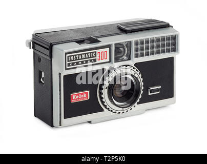 1963 Kodak Instamatic 300 camera made in England - Stock Photo