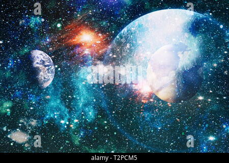 Small part of an infinite star field of space in the Universe. 'Elements of this image furnished by NASA'. - Stock Photo