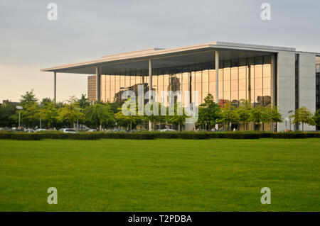 Platz der Republik ('Republic Square) and Bundestag metro station, Berlin, Germany - Stock Photo