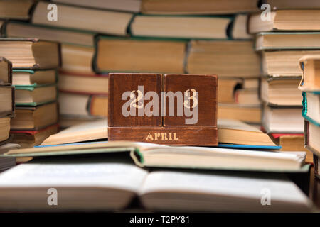 World Book Day, April 23, books - Stock Photo