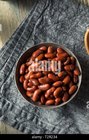 Organic Raw Red Beans in a Bowl - Stock Photo
